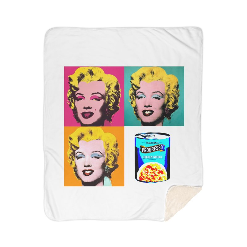 Pop Art Progress Home Sherpa Blanket Blanket by Not Bad Tees