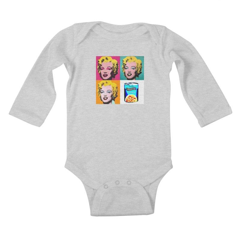 Pop Art Progress Kids Baby Longsleeve Bodysuit by Not Bad Tees