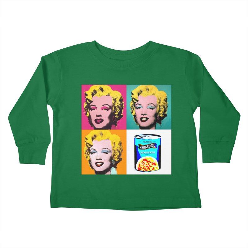 Pop Art Progress Kids Toddler Longsleeve T-Shirt by Not Bad Tees