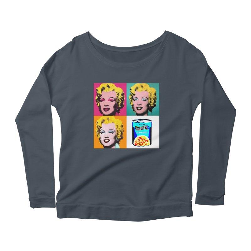 Pop Art Progress Women's Scoop Neck Longsleeve T-Shirt by Not Bad Tees