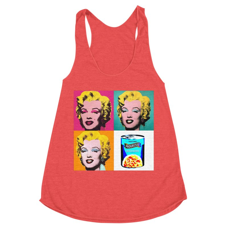 Pop Art Progress Women's Racerback Triblend Tank by Not Bad Tees
