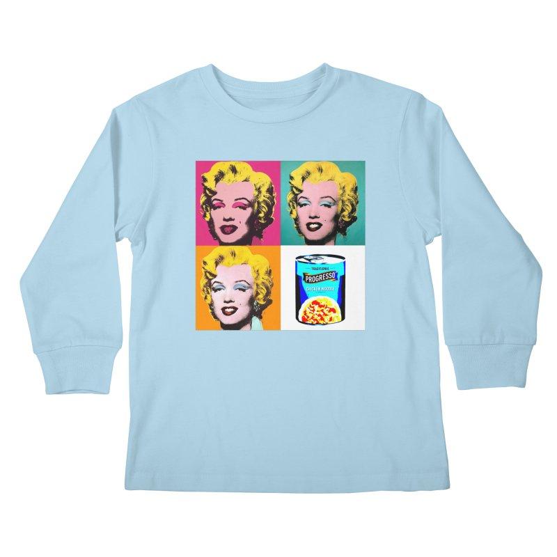 Pop Art Progress Kids Longsleeve T-Shirt by Not Bad Tees
