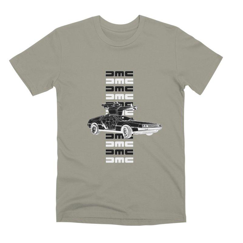 DMC DeLorean Retro Men's Premium T-Shirt by Not Bad Tees
