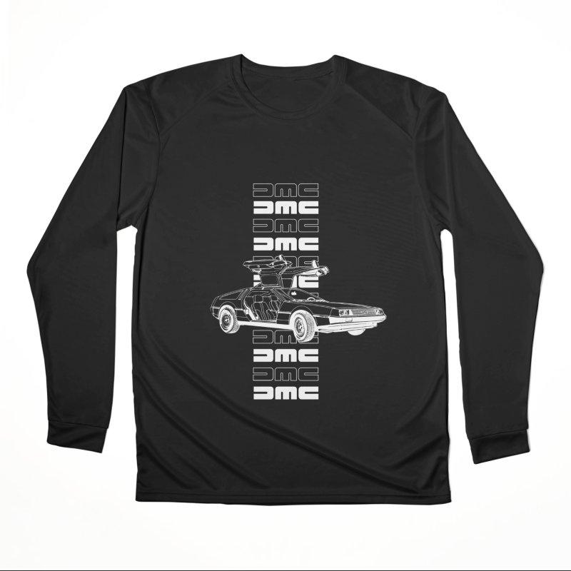 DMC DeLorean Retro Men's Performance Longsleeve T-Shirt by Not Bad Tees