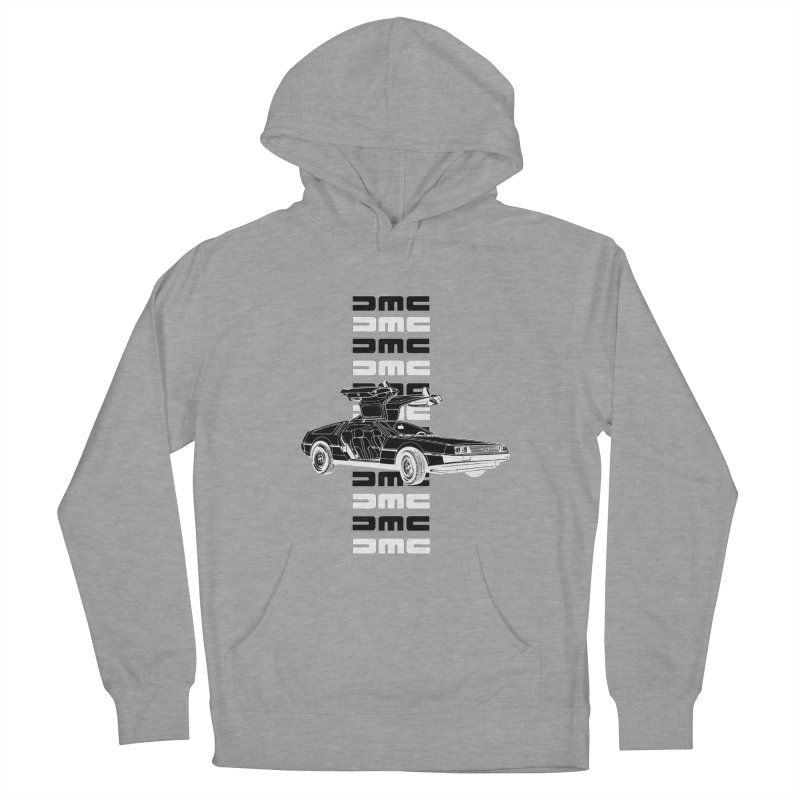 DMC DeLorean Retro Women's French Terry Pullover Hoody by Not Bad Tees