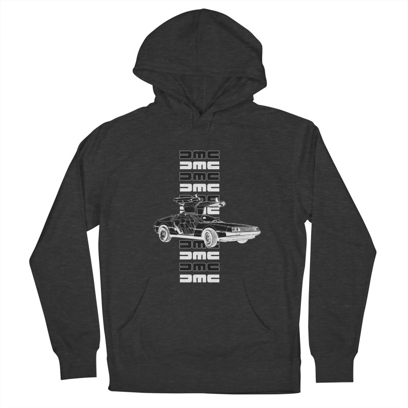 DMC DeLorean Retro Men's French Terry Pullover Hoody by Not Bad Tees