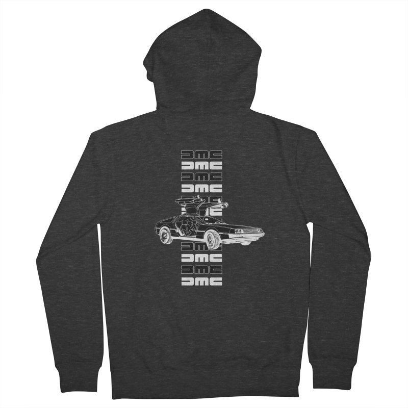 DMC DeLorean Retro Men's French Terry Zip-Up Hoody by Not Bad Tees