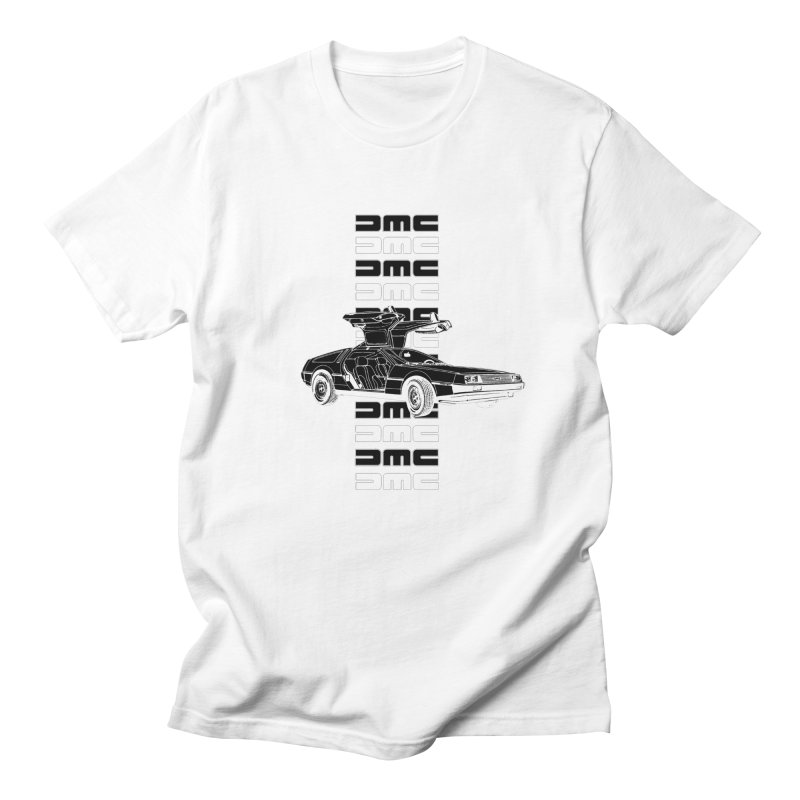 DMC DeLorean Retro Men's Regular T-Shirt by Not Bad Tees