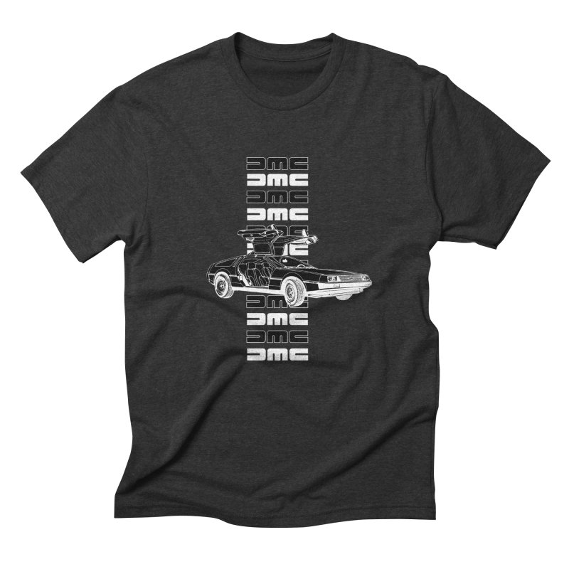 DMC DeLorean Retro Men's Triblend T-Shirt by Not Bad Tees