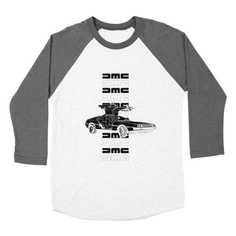 DMC DeLorean Retro Men's Baseball Triblend Longsleeve T-Shirt by Not Bad Tees
