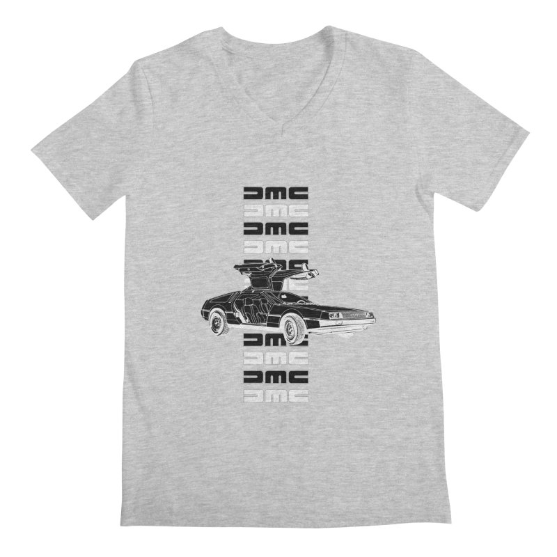 DMC DeLorean Retro Men's Regular V-Neck by Not Bad Tees