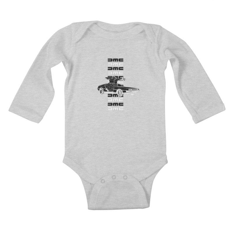DMC DeLorean Retro Kids Baby Longsleeve Bodysuit by Not Bad Tees