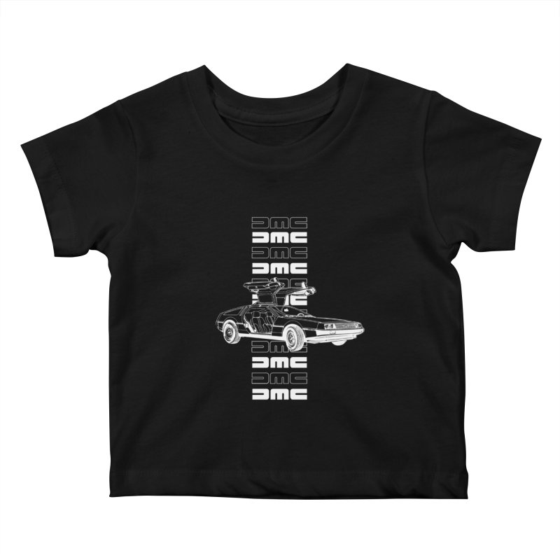 DMC DeLorean Retro Kids Baby T-Shirt by Not Bad Tees