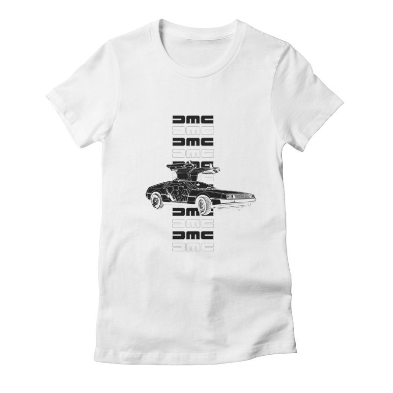 DMC DeLorean Retro Women's Fitted T-Shirt by Not Bad Tees