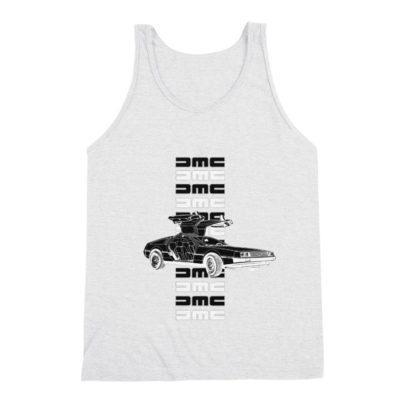 DMC DeLorean Retro Men's Triblend Tank by Not Bad Tees