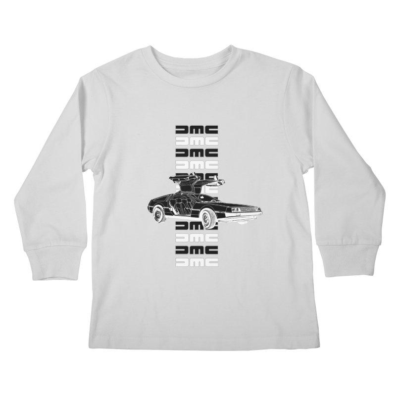 DMC DeLorean Retro Kids Longsleeve T-Shirt by Not Bad Tees