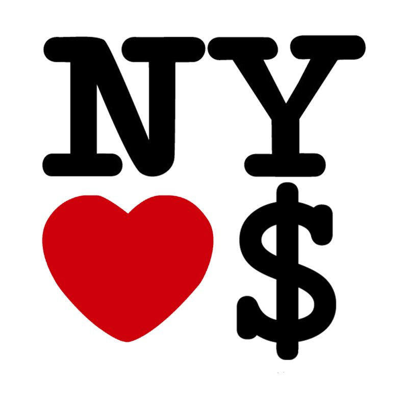 New York Loves Money Men's T-Shirt by Not Bad Tees