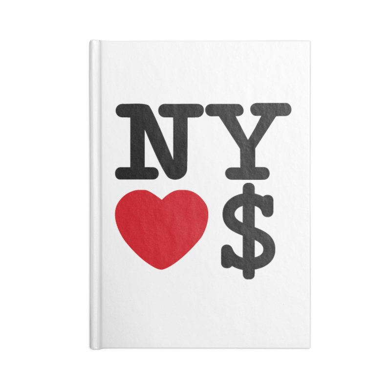 New York Loves Money Accessories Lined Journal Notebook by Not Bad Tees