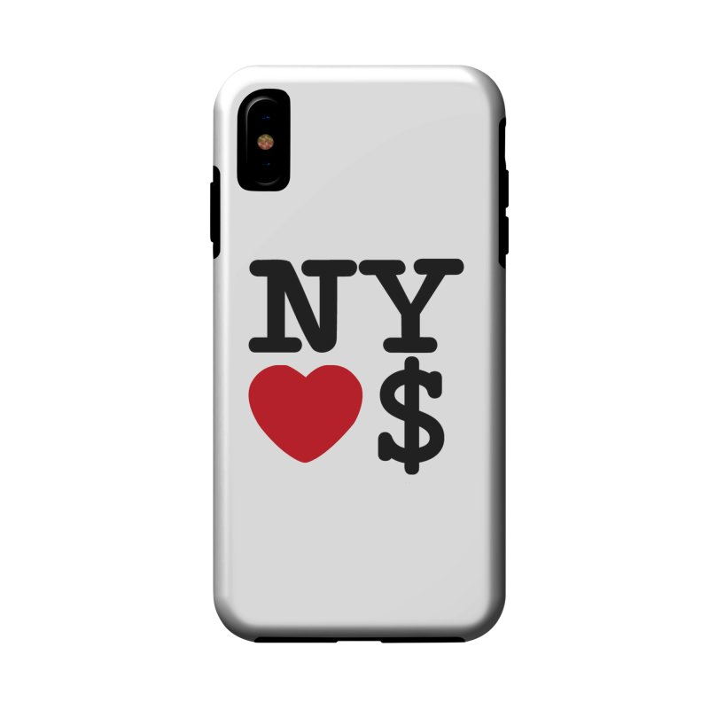 New York Loves Money Accessories Phone Case by Not Bad Tees