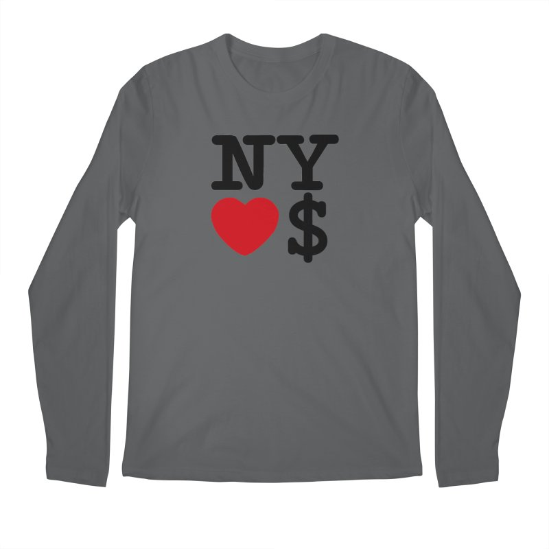 New York Loves Money Men's Regular Longsleeve T-Shirt by NotBadTees's Artist Shop