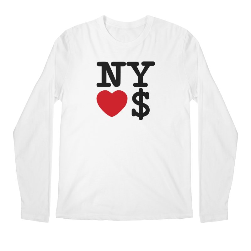 New York Loves Money Men's Regular Longsleeve T-Shirt by Not Bad Tees