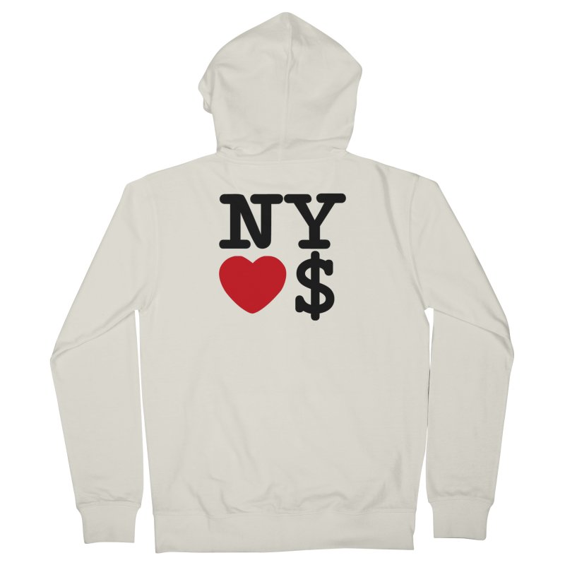 New York Loves Money Women's French Terry Zip-Up Hoody by Not Bad Tees