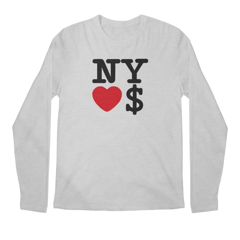 New York Loves Money Men's Regular Longsleeve T-Shirt by Not Bad Tees