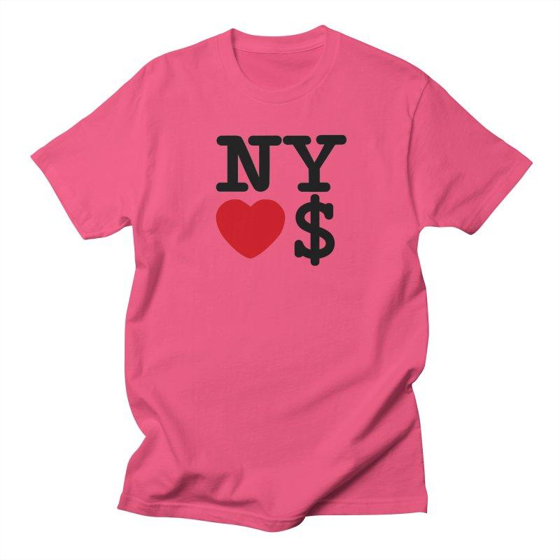New York Loves Money Men's Regular T-Shirt by Not Bad Tees