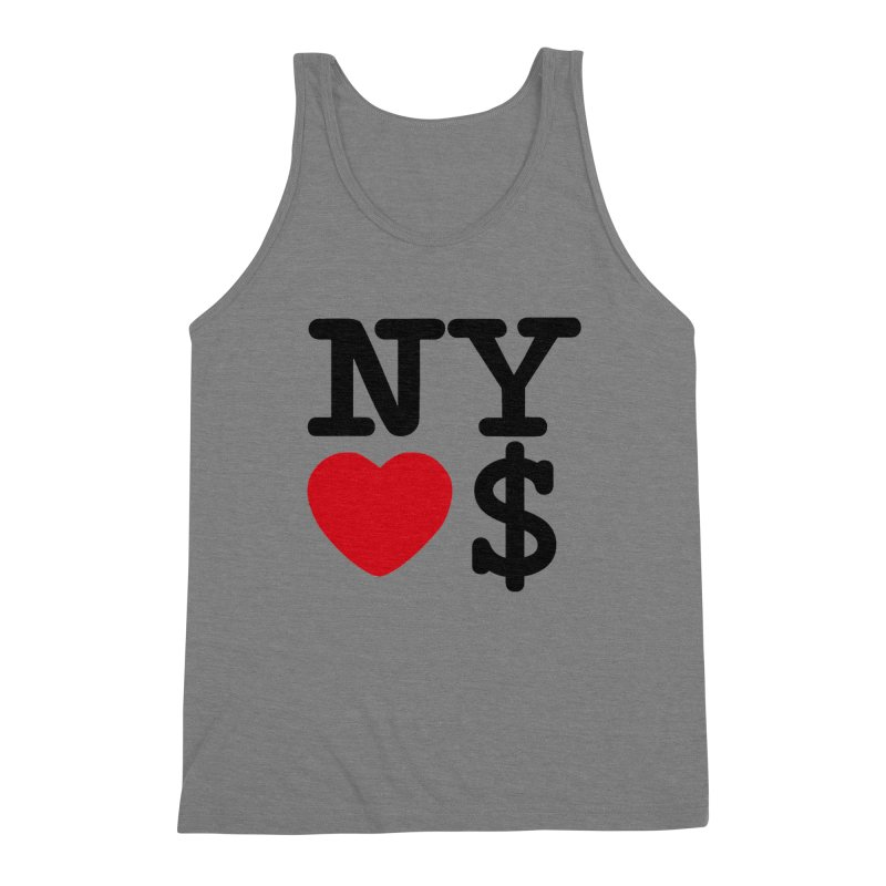 New York Loves Money Men's Triblend Tank by Not Bad Tees