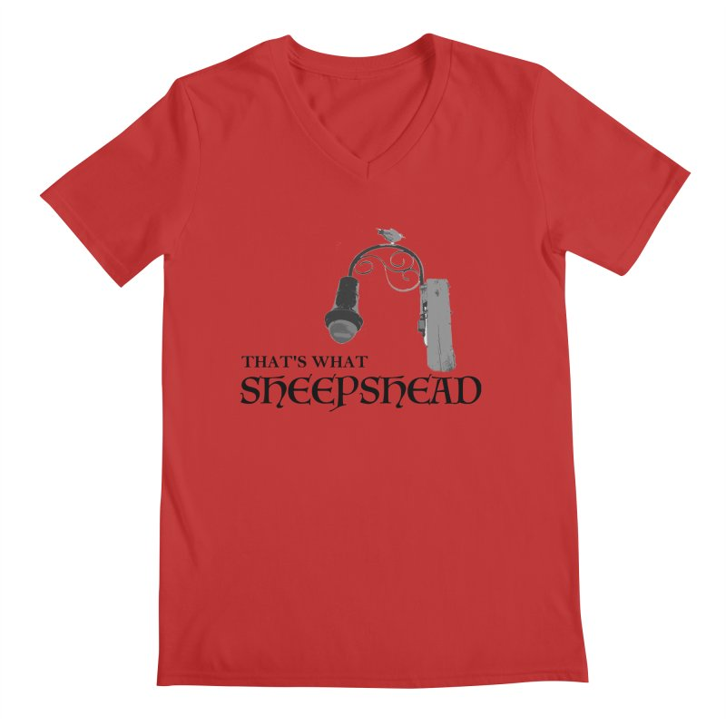 That's What Sheepshead Men's Regular V-Neck by Not Bad Tees