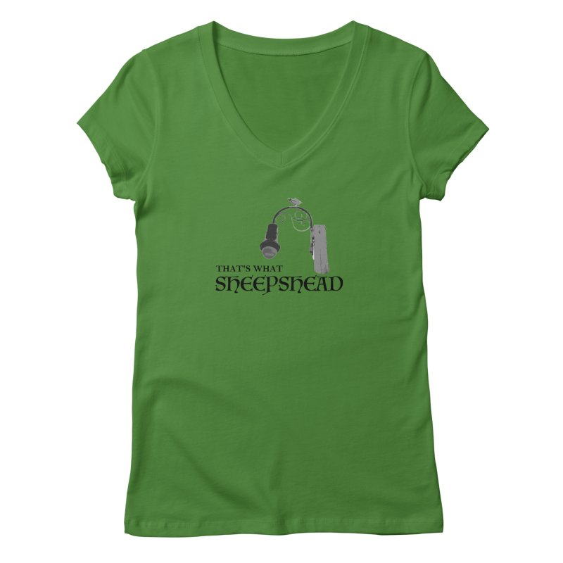 That's What Sheepshead Women's Regular V-Neck by Not Bad Tees
