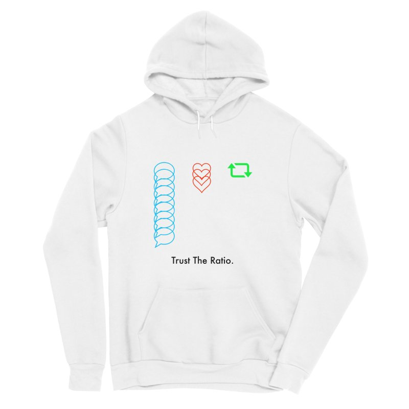 Trust The Ratio Men's Sponge Fleece Pullover Hoody by Not Bad Tees