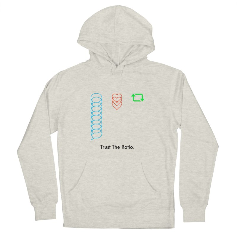 Trust The Ratio Men's French Terry Pullover Hoody by Not Bad Tees