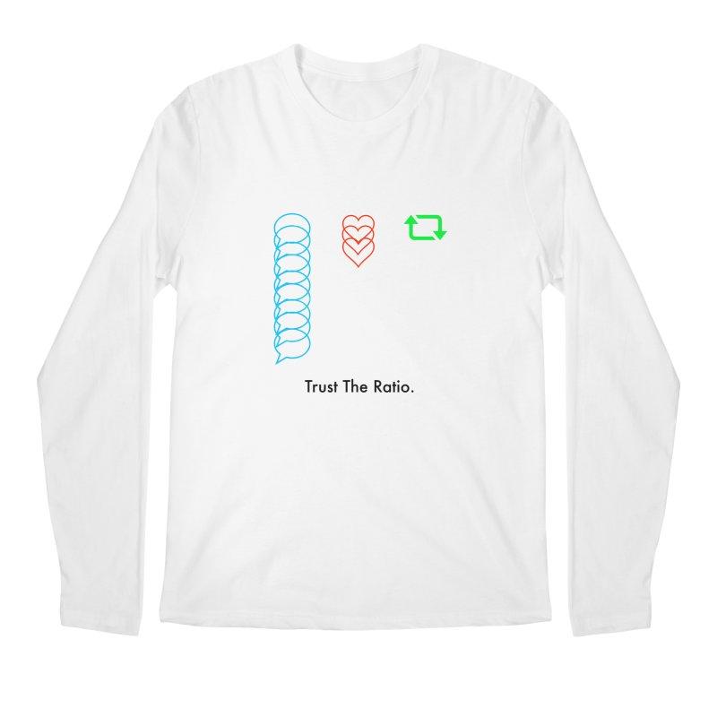Trust The Ratio Men's Regular Longsleeve T-Shirt by Not Bad Tees
