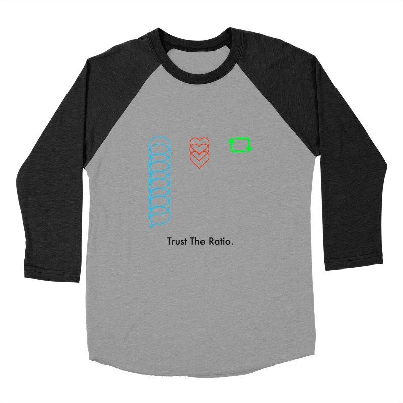 Trust The Ratio Men's Baseball Triblend Longsleeve T-Shirt by Not Bad Tees