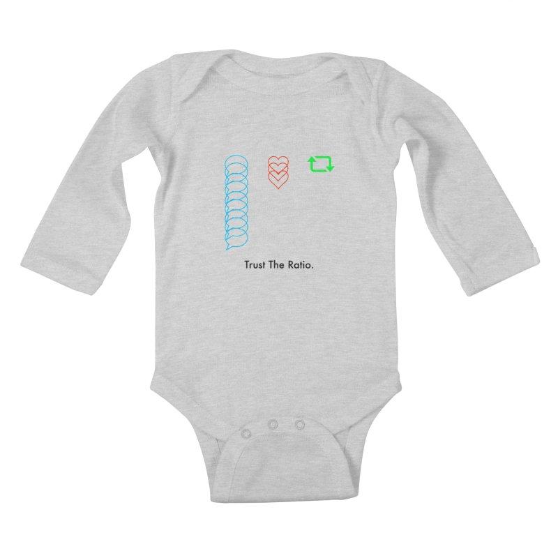 Trust The Ratio Kids Baby Longsleeve Bodysuit by Not Bad Tees