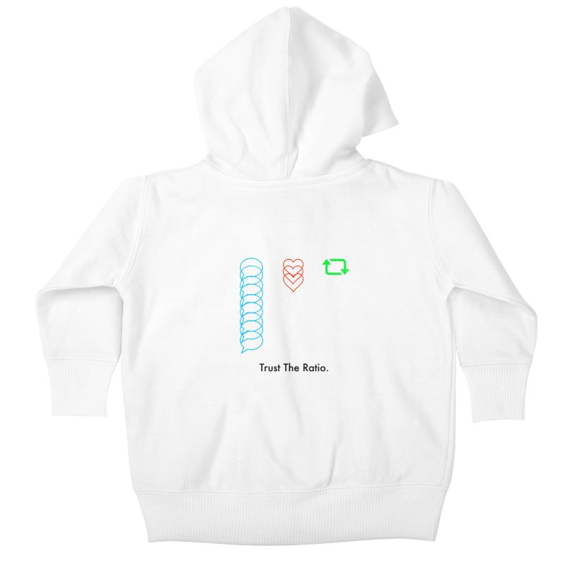 Trust The Ratio Kids Baby Zip-Up Hoody by Not Bad Tees