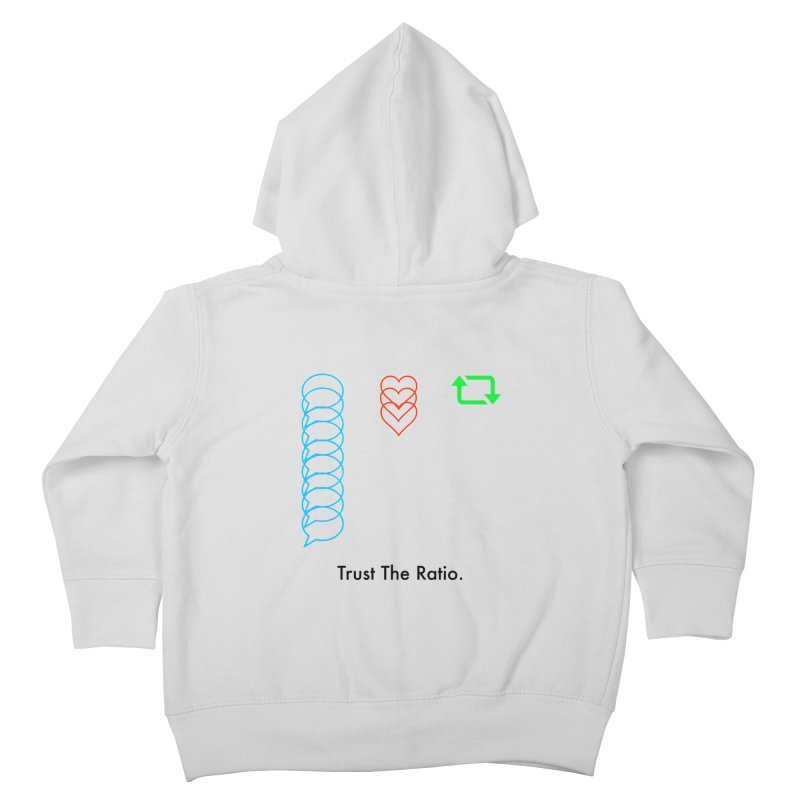 Trust The Ratio Kids Toddler Zip-Up Hoody by Not Bad Tees