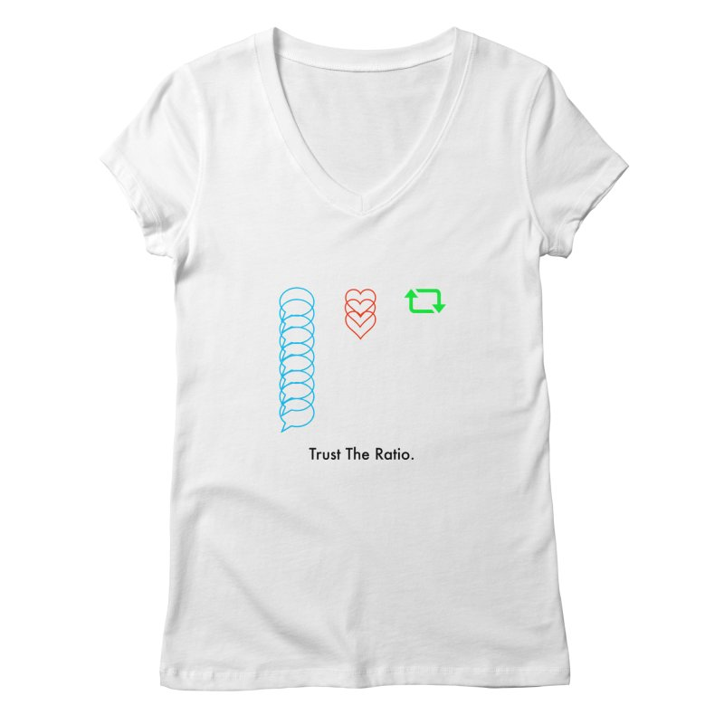 Trust The Ratio Women's V-Neck by Not Bad Tees