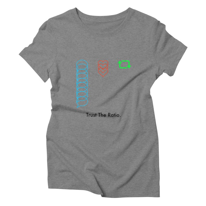 Trust The Ratio Women's Triblend T-Shirt by Not Bad Tees