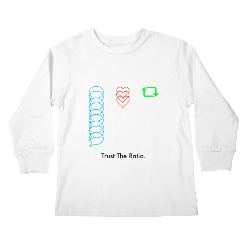Trust The Ratio Kids Longsleeve T-Shirt by Not Bad Tees