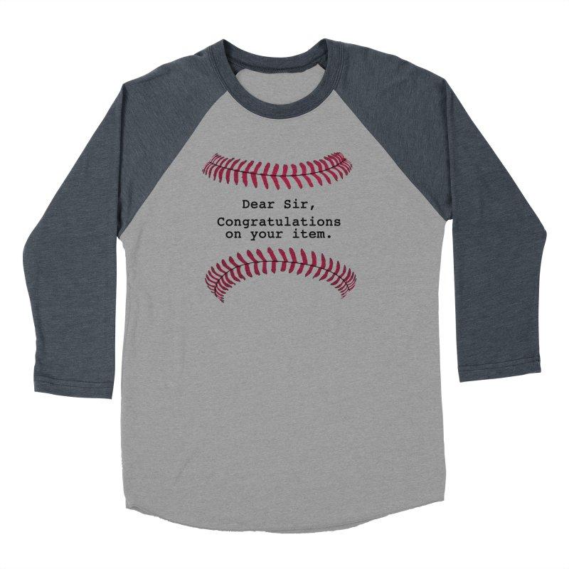 Lowball Men's Baseball Triblend Longsleeve T-Shirt by Not Bad Tees