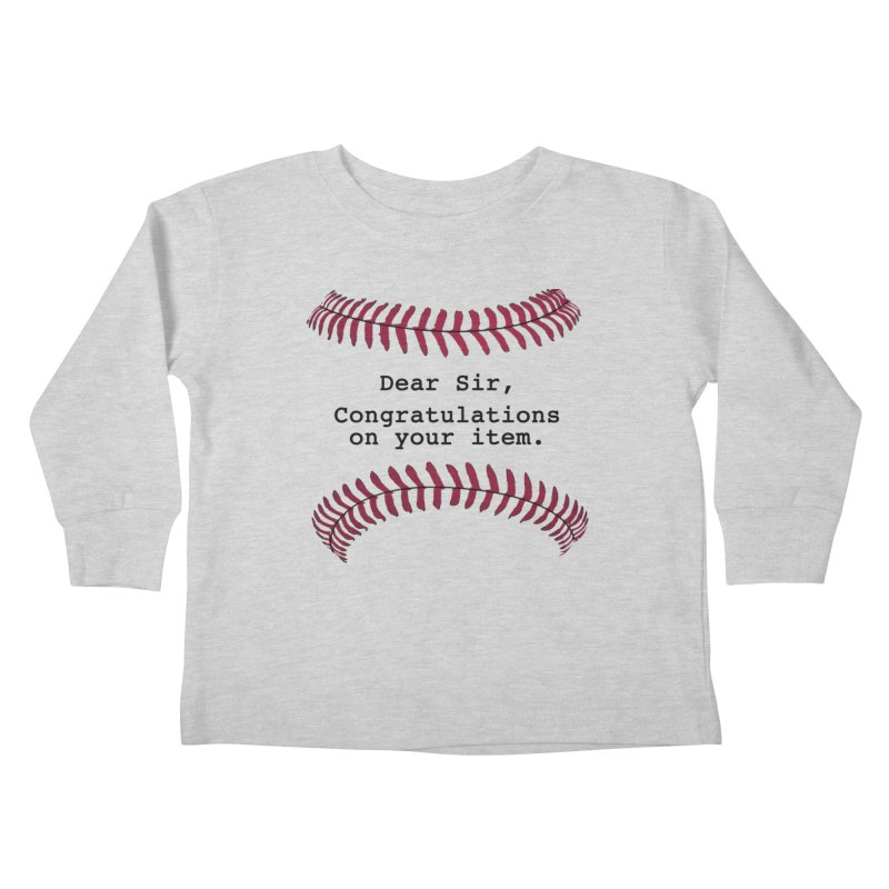 Lowball Kids Toddler Longsleeve T-Shirt by Not Bad Tees