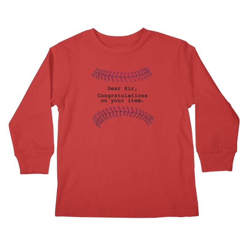 Lowball Kids Longsleeve T-Shirt by Not Bad Tees