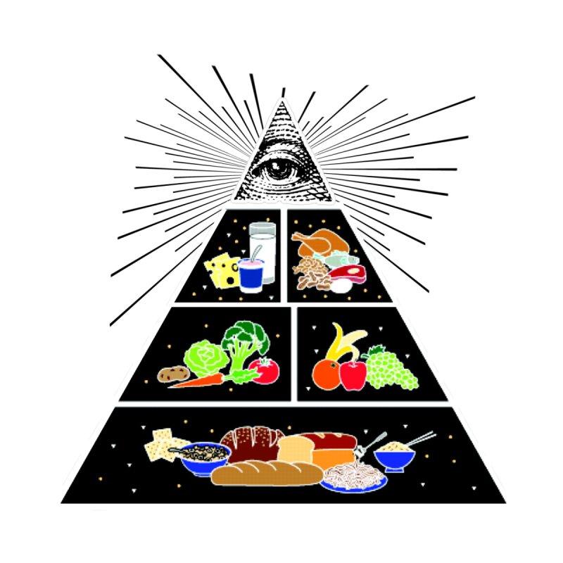 Illuminati Food Pyramid Women's Scoop Neck by Not Bad Tees