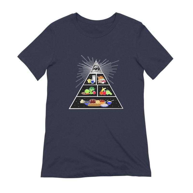 Illuminati Food Pyramid Women's Extra Soft T-Shirt by Not Bad Tees