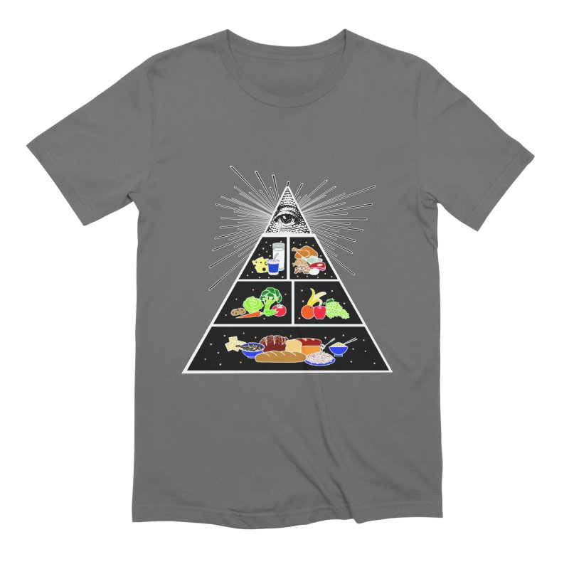 Illuminati Food Pyramid Men's Extra Soft T-Shirt by NotBadTees's Artist Shop
