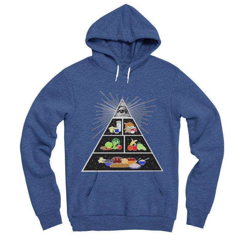 Illuminati Food Pyramid Men's Sponge Fleece Pullover Hoody by NotBadTees's Artist Shop