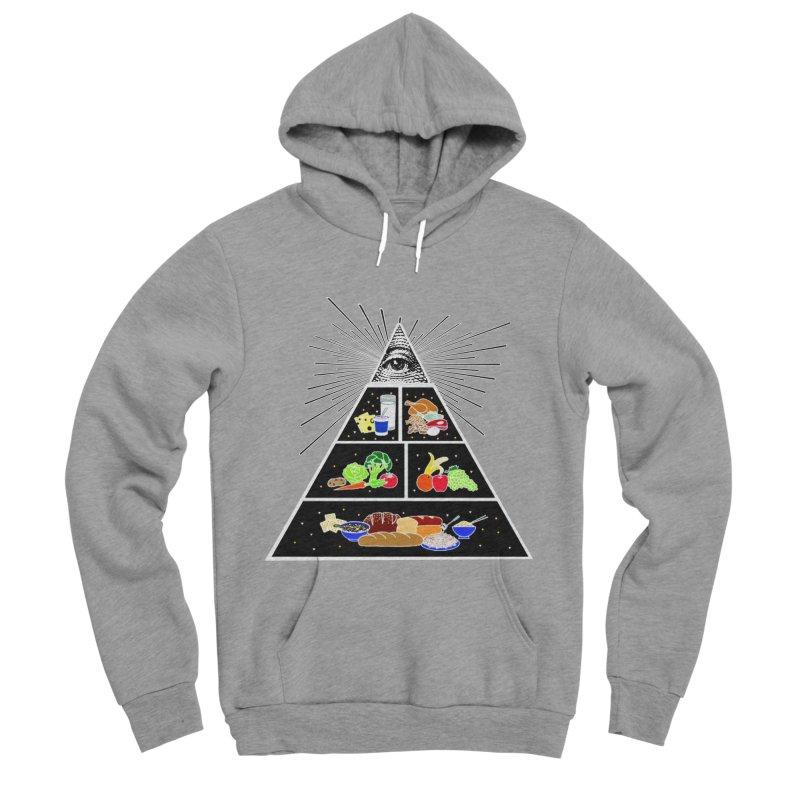 Illuminati Food Pyramid Men's Sponge Fleece Pullover Hoody by Not Bad Tees