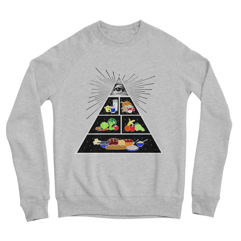 Illuminati Food Pyramid Women's Sponge Fleece Sweatshirt by NotBadTees's Artist Shop